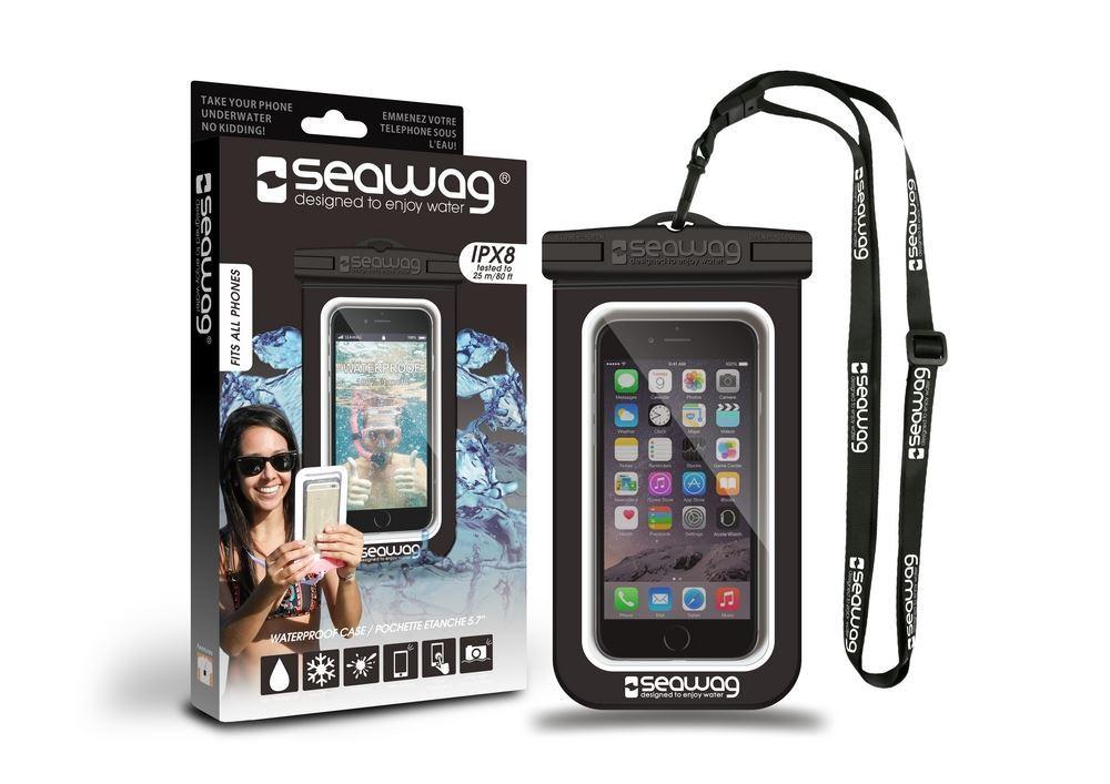 Seawag Universal Αδιάβροχη Θήκη Πουγκί για Smartphones έως 5.7'' - Black/White (SEAWAG_B1X)