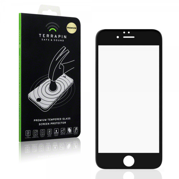 Terrapin Edge to Edge Tempered Glass - Αντιχαρακτικό Γυάλινο Screen Protector iPhone 6/6s - Black (006-113-012)