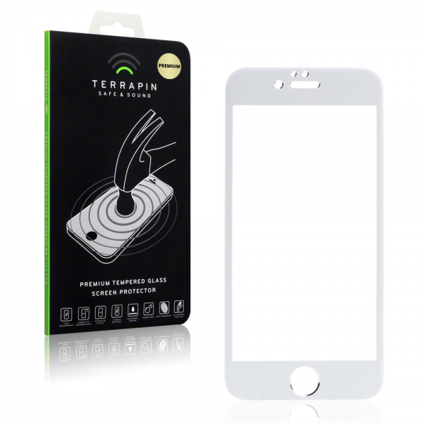 Terrapin Edge to Edge Tempered Glass - Αντιχαρακτικό Γυάλινο Screen Protector iPhone 6/6s - White (006-113-013)