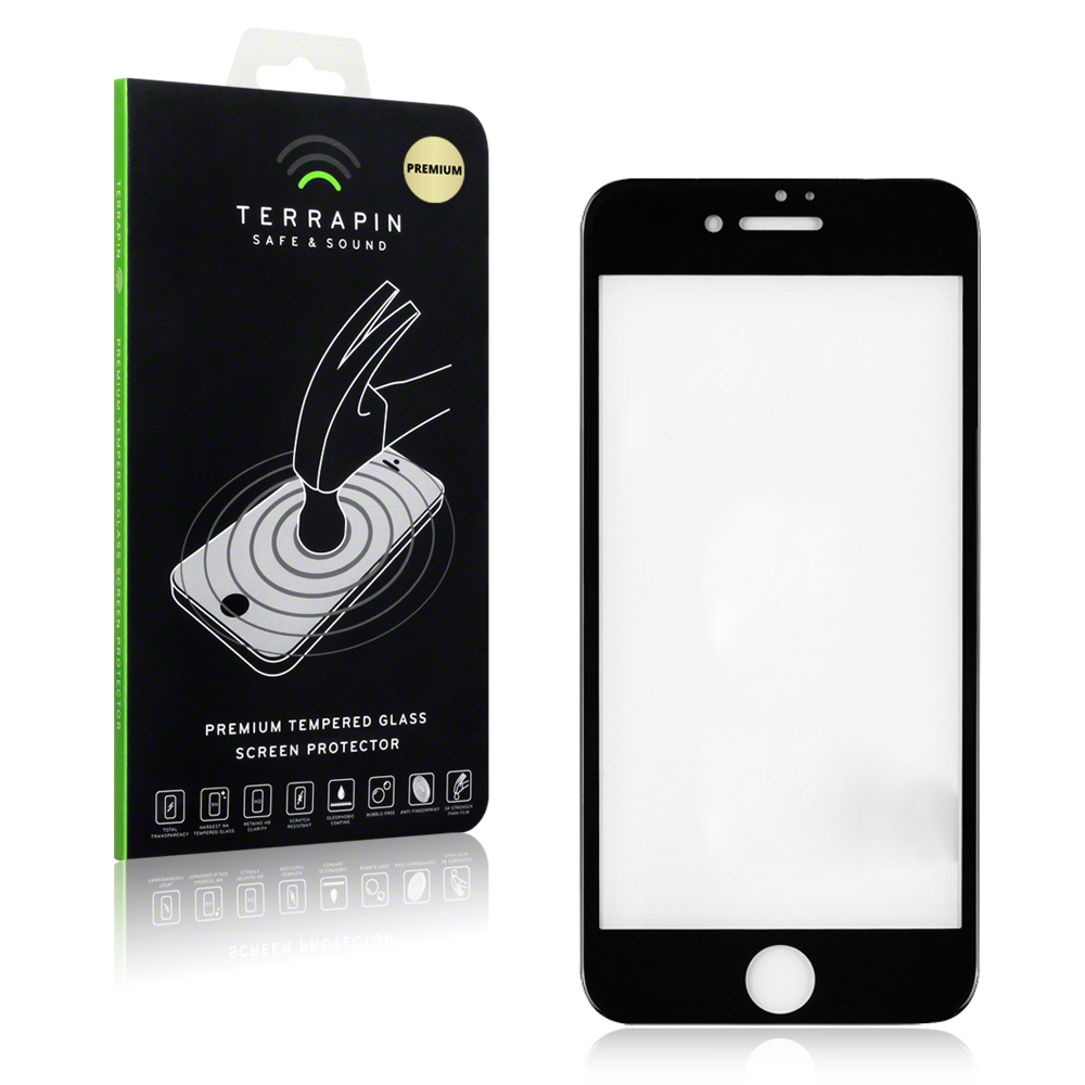 Terrapin Edge to Edge Tempered Glass - Αντιχαρακτικό Γυάλινο Screen Protector iPhone 8 / 7 - Black ( 006-122-005)