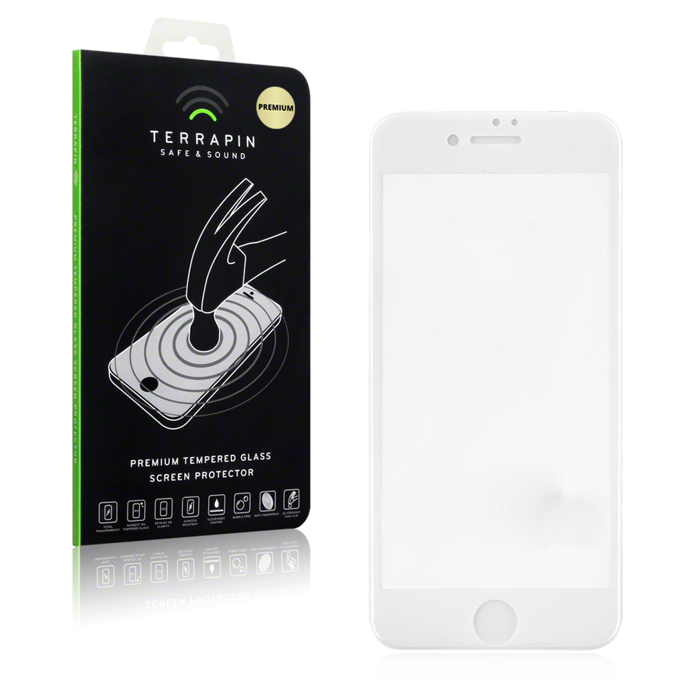 Terrapin Edge to Edge Tempered Glass - Αντιχαρακτικό Γυάλινο Screen Protector iPhone 8 / 7- White (006-122-006)