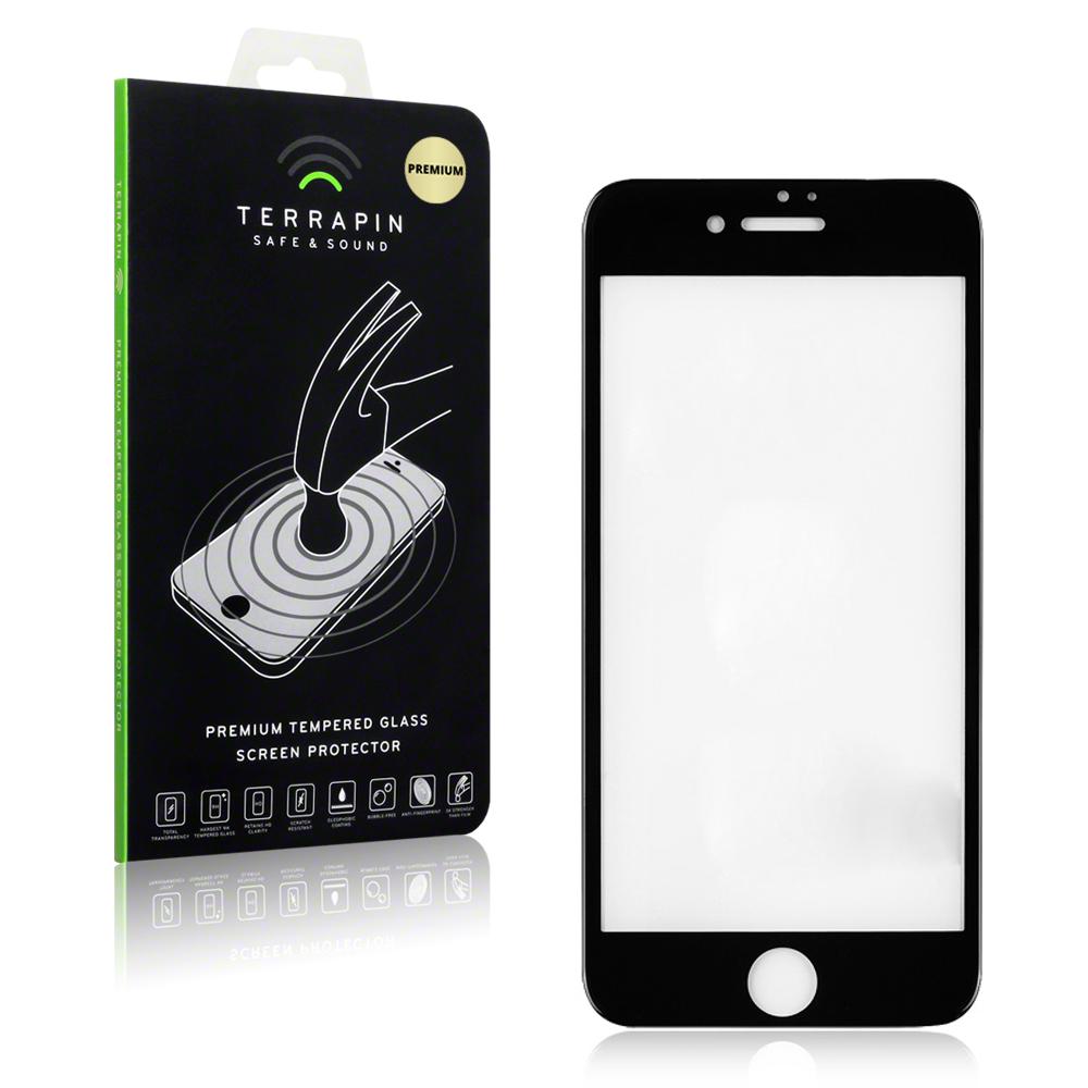 Terrapin Edge to Edge Tempered Glass - Αντιχαρακτικό Γυάλινο Screen Protector  iPhone 8 Plus / iPhone 7 Plus - Black (006-123-005)