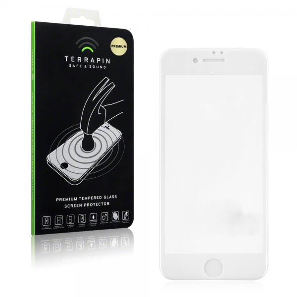 Terrapin Edge to Edge Tempered Glass - Αντιχαρακτικό Γυάλινο Screen Protector iPhone 8 Plus / iPhone 7 Plus - White (006-123-006)