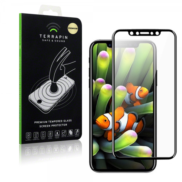 Terrapin Edge to Edge Tempered Glass - Αντιχαρακτικό Γυάλινο Screen Protector iPhone X / 10 - Black (006-125-002)