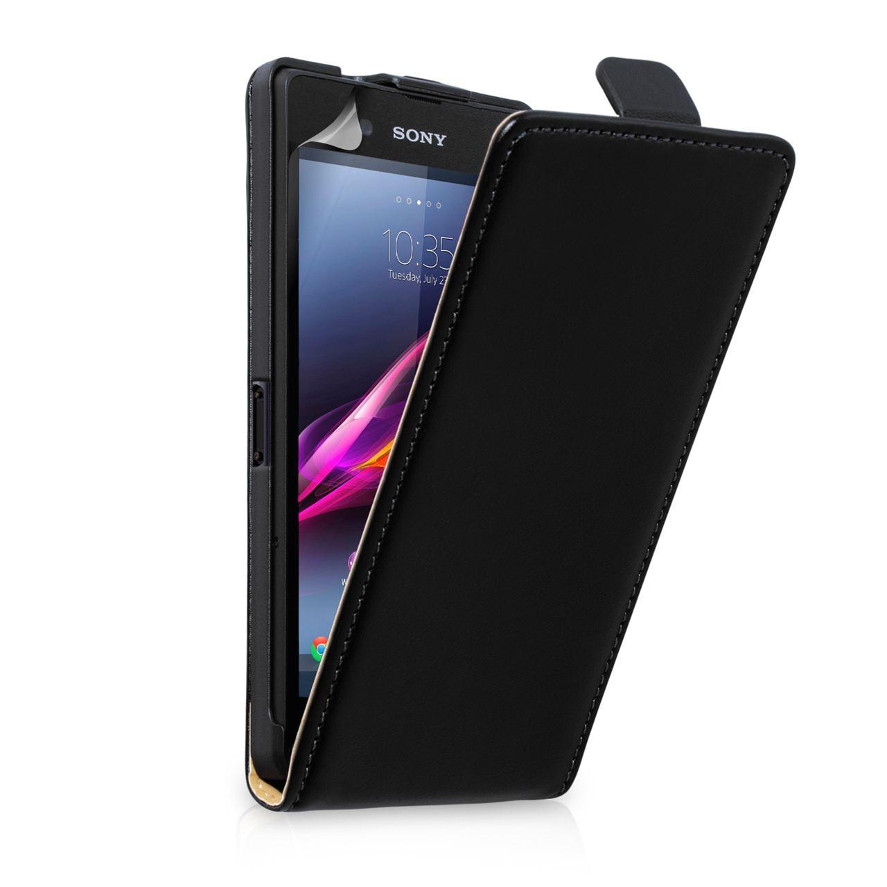 Yousave Δερμάτινη Flip Θήκη Sony Xperia Z Ultra (Z641) - Black
