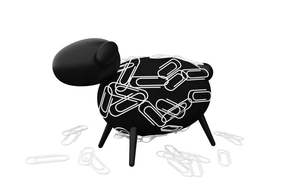 Allocacoc Sheepi - Magnetic Paperclip Holder - Μαγνητική Βάση-Πρόβατο για Συνδετήρες (47088)