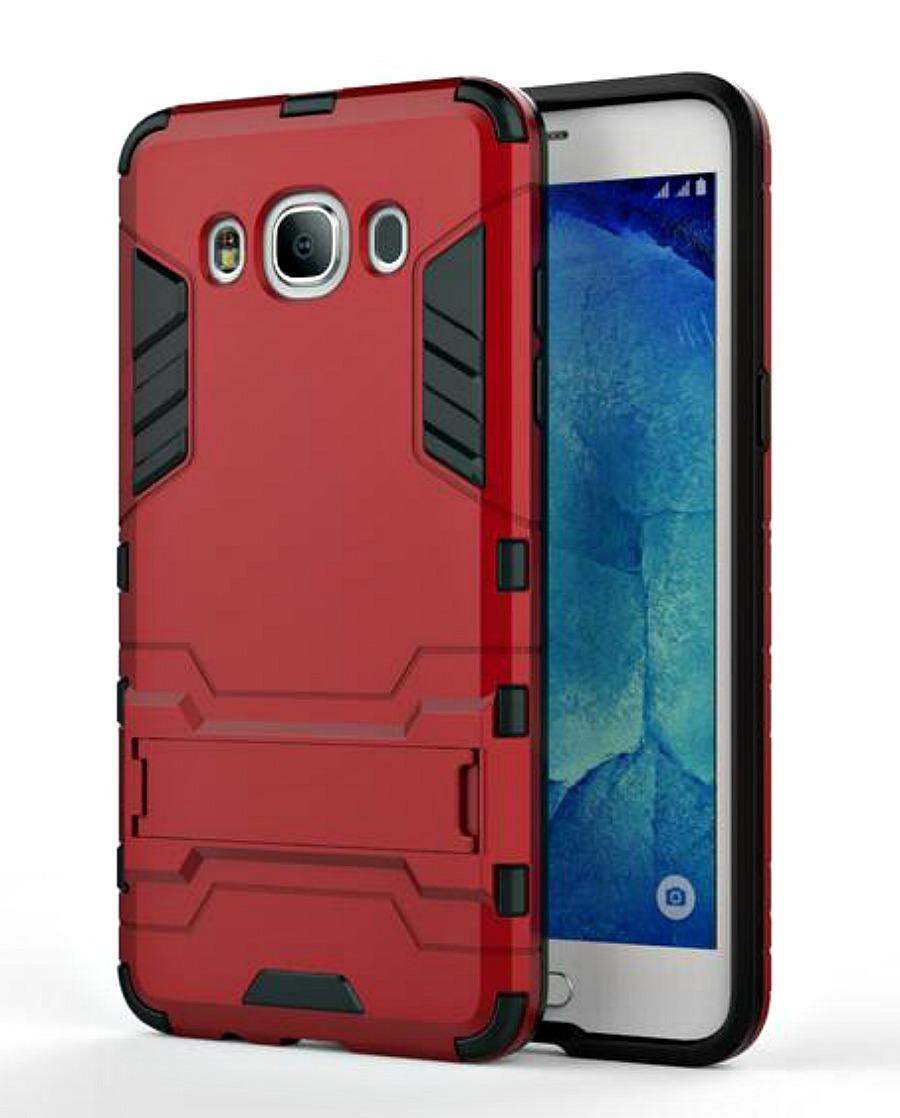 Ανθεκτική Θήκη με Stand Samsung Galaxy J5 (2016) - Red (8863) - OEM