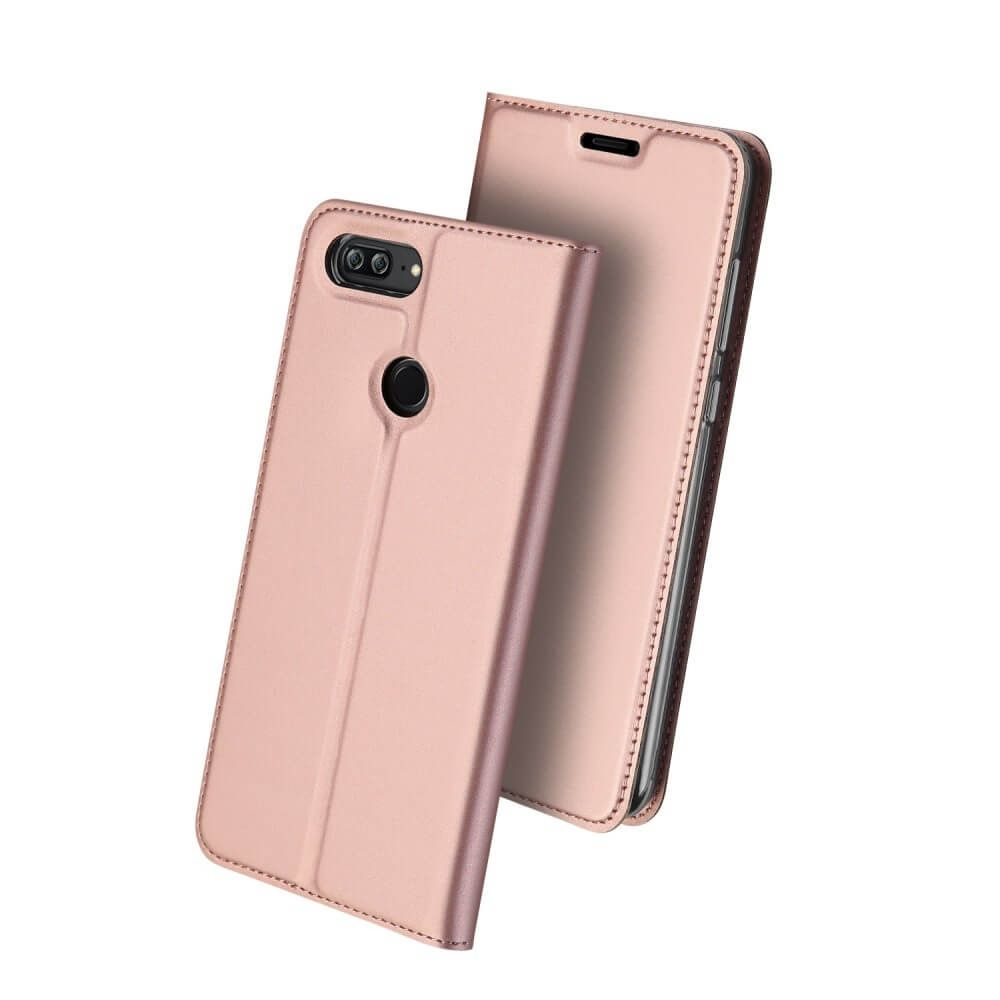 Duxducis SkinPro Flip Θήκη Honor 9 Lite - Rose Gold (13536)