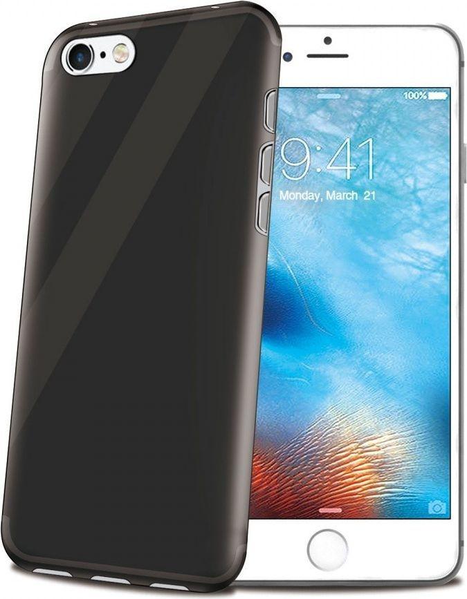 Celly Θήκη Σιλικόνης iPhone 8/7 - Black - Transparent (GELSKIN800BK)