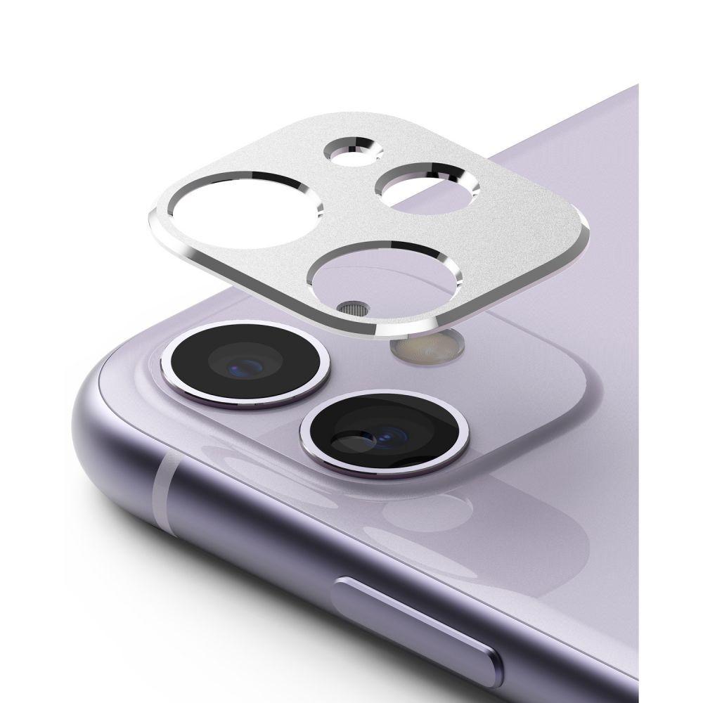 Ringke Camera Styling Screen Protector - Μεταλλικό Κάλυμμα Κάμερας iPhone 11 - Silver (61616)