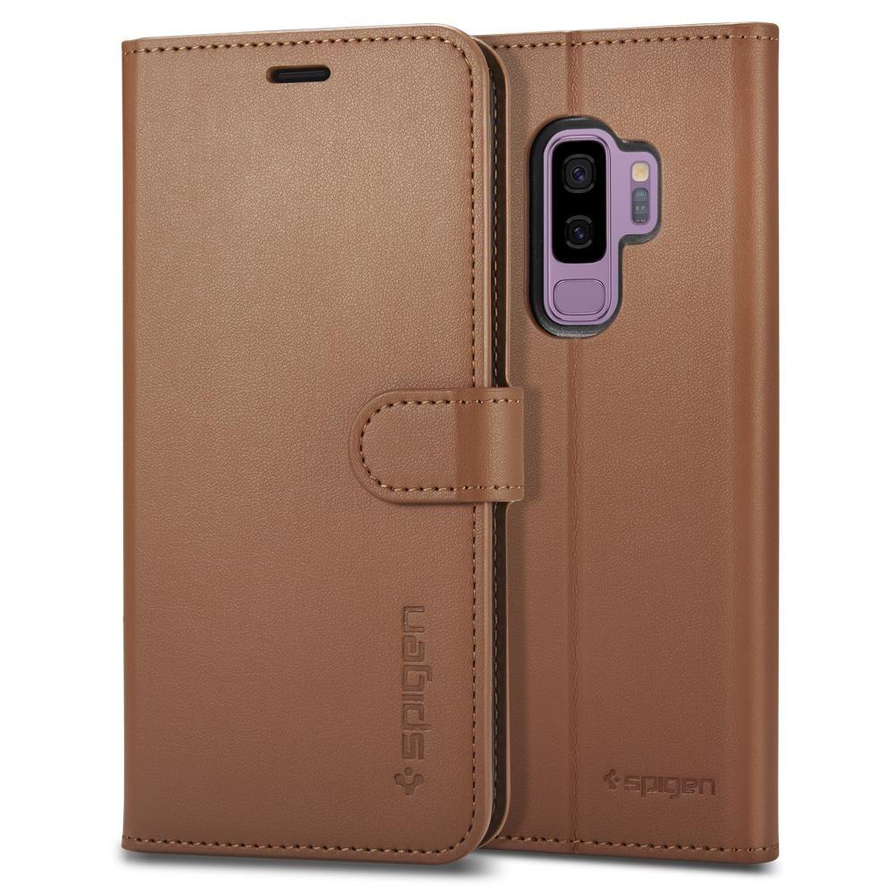 Spigen Wallet S. Θήκη - Πορτοφόλι Samsung Galaxy S9 Plus - Coffee Brown (593CS22958)