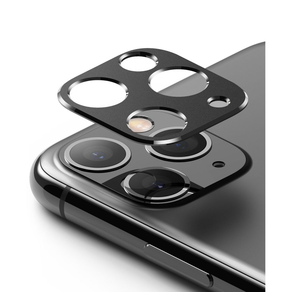 Ringke Camera Styling Screen Protector - Μεταλλικό Κάλυμμα Κάμερας iPhone 11 Pro & iPhone 11 Pro Max - Black (61617)