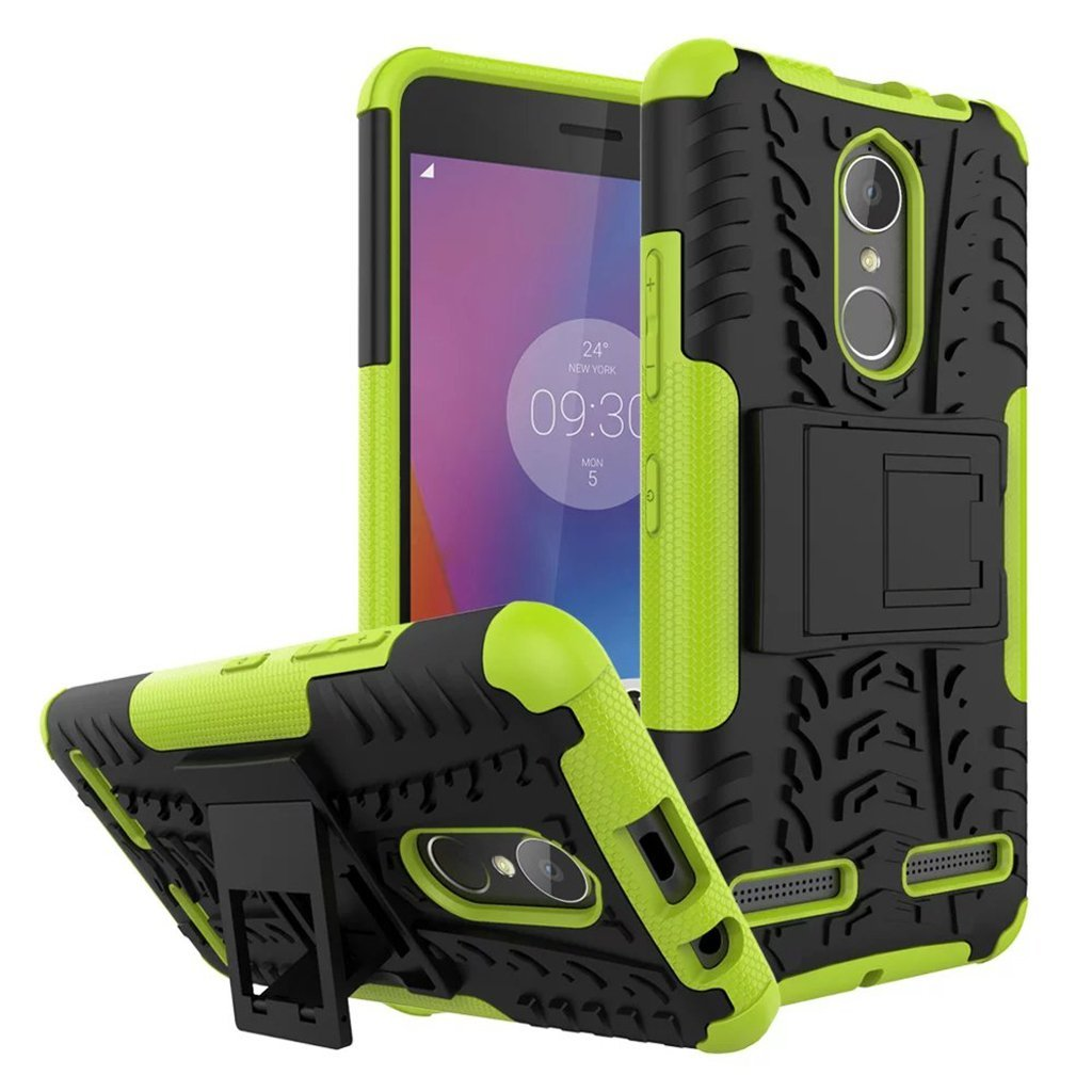 Ανθεκτική Θήκη Etui Tire Armor Lenovo K6 - Black/Green (138622)