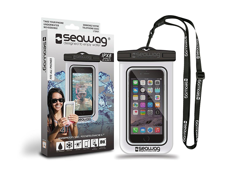 Seawag Universal Αδιάβροχη Θήκη Πουγκί για Smartphones έως 5.7'' - White/Black (SEAWAG_W1X)