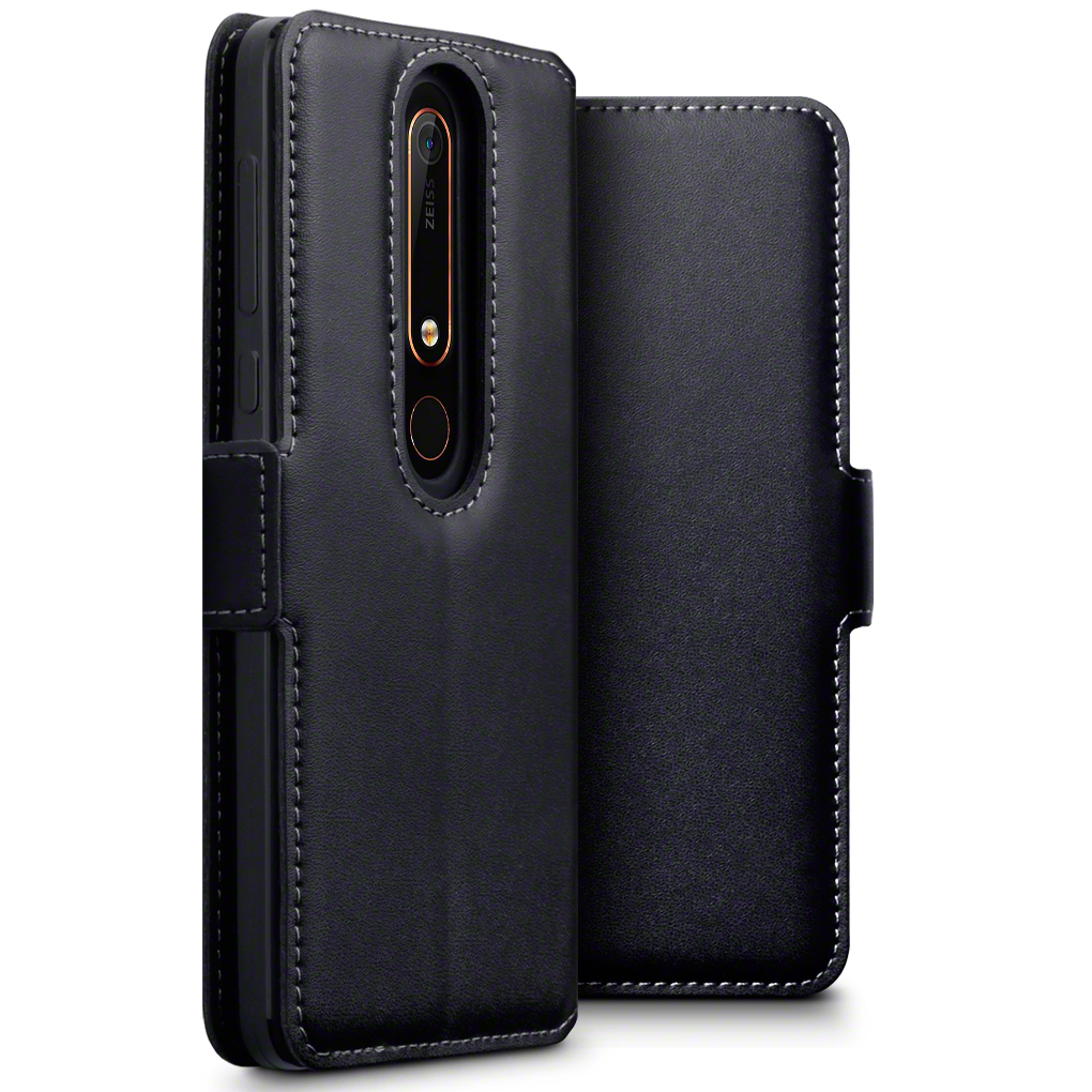 Terrapin Low Profile Δερμάτινη Θήκη - Πορτοφόλι Nokia 6.1 / Nokia 6 2018 - Black (117-001-278)