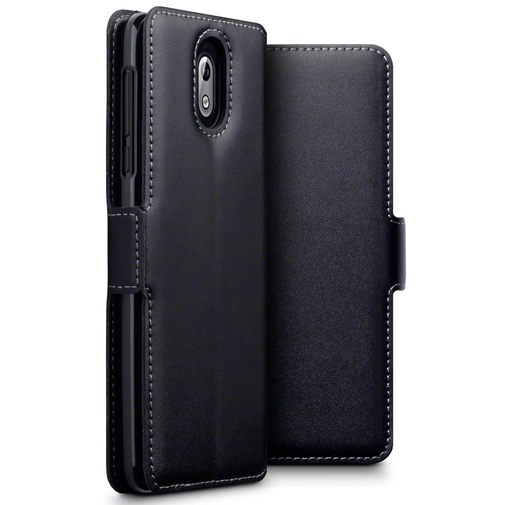 Terrapin Low Profile Δερμάτινη Θήκη - Πορτοφόλι Nokia 3.1 - Black (117-001-287)