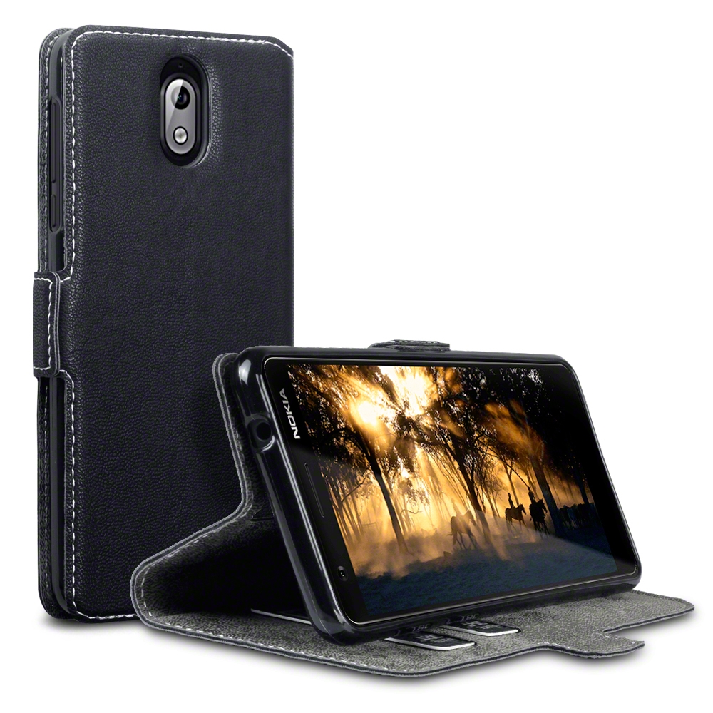 Terrapin Θήκη - Πορτοφόλι Nokia 3.1 - Black (117-001-288)