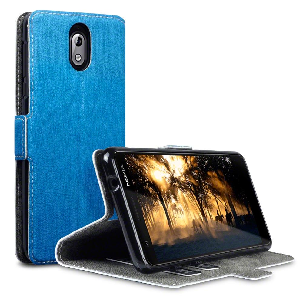 Terrapin Θήκη - Πορτοφόλι Nokia 3.1 - Light Blue (117-001-290)