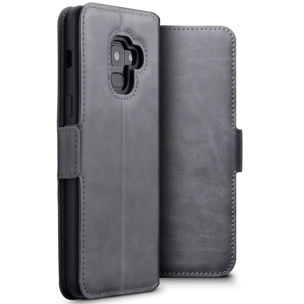Terrapin Low Profile Δερμάτινη Θήκη - Πορτοφόλι Samsung Galaxy A8 2018 - Grey (117-002a-053)