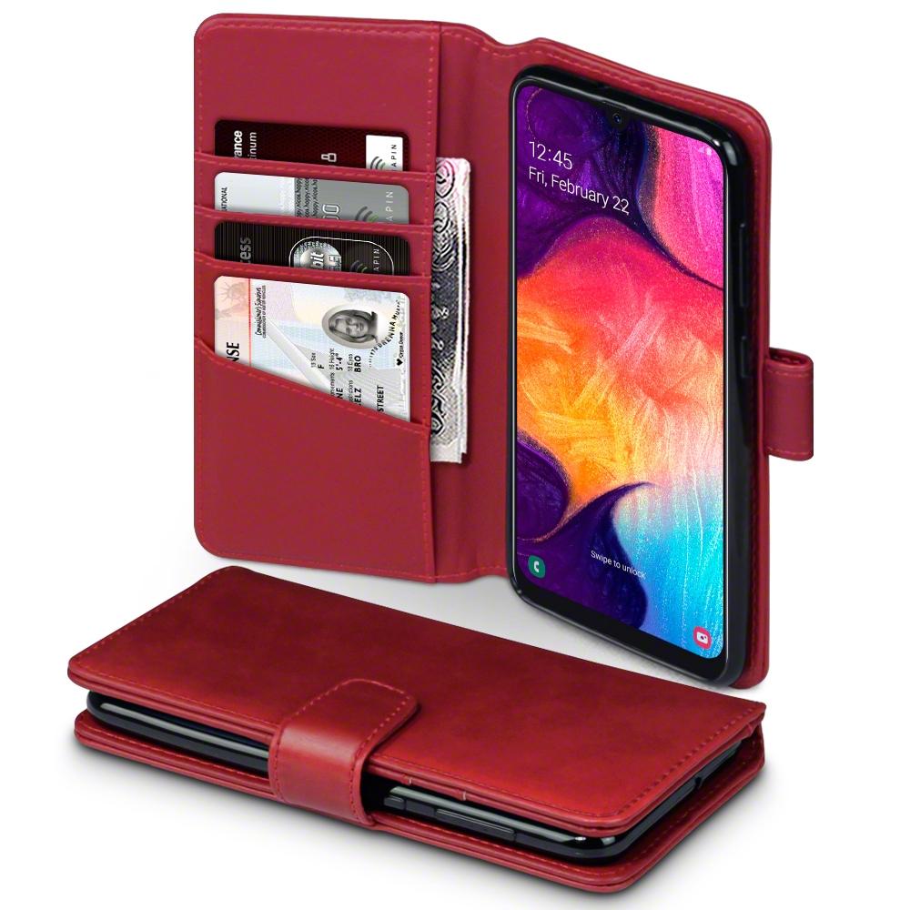 Terrapin Δερμάτινη Θήκη - Πορτοφόλι Samsung Galaxy A50 - Red (117-002a-167)