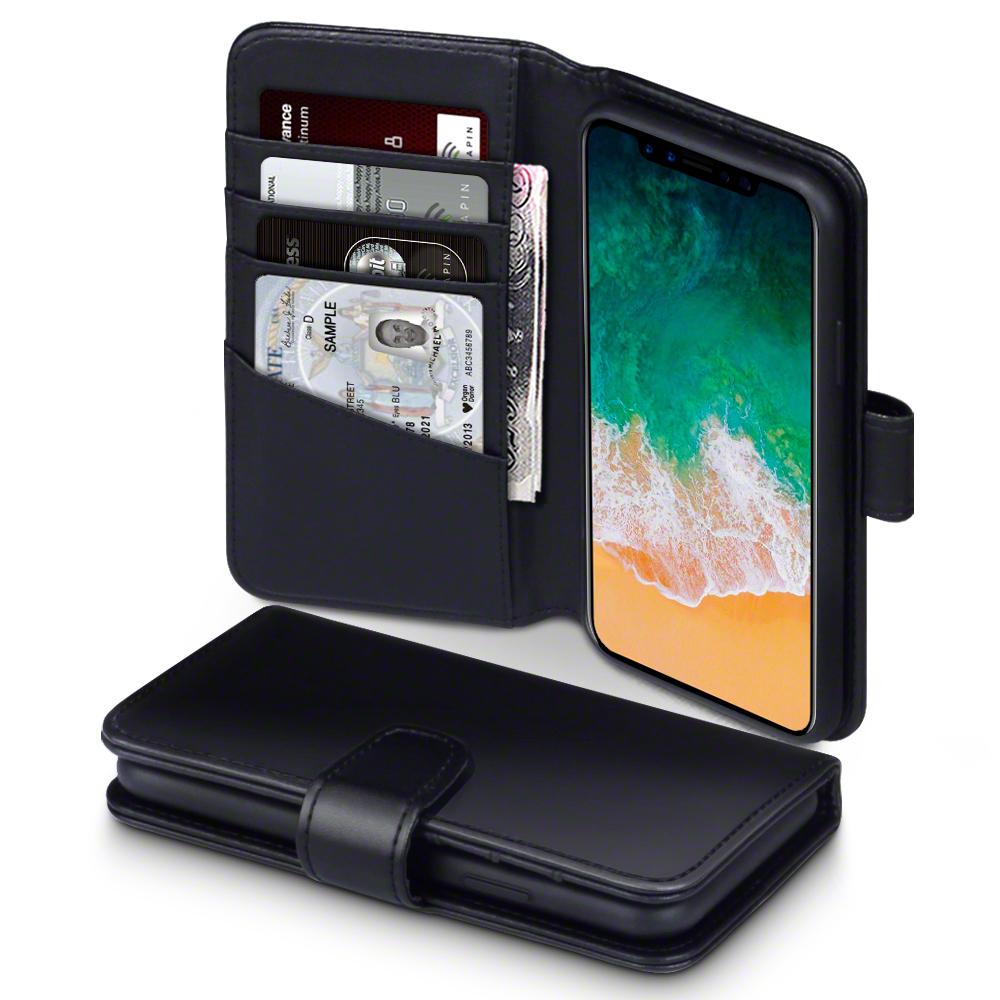 Terrapin Δερμάτινη Θήκη - Πορτοφόλι iPhone X / XS - Black (117-125-001)