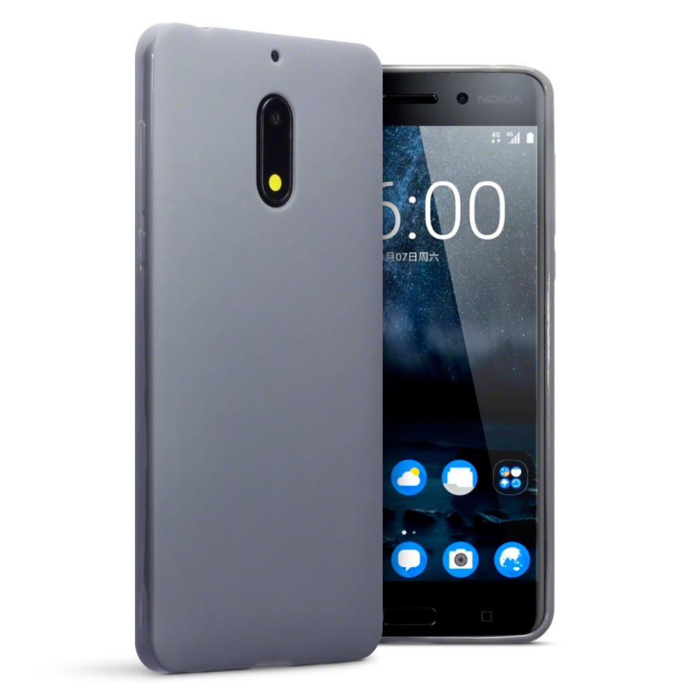 Terrapin Θήκη Σιλικόνης Nokia 6 - Grey Matte (118-001-242)