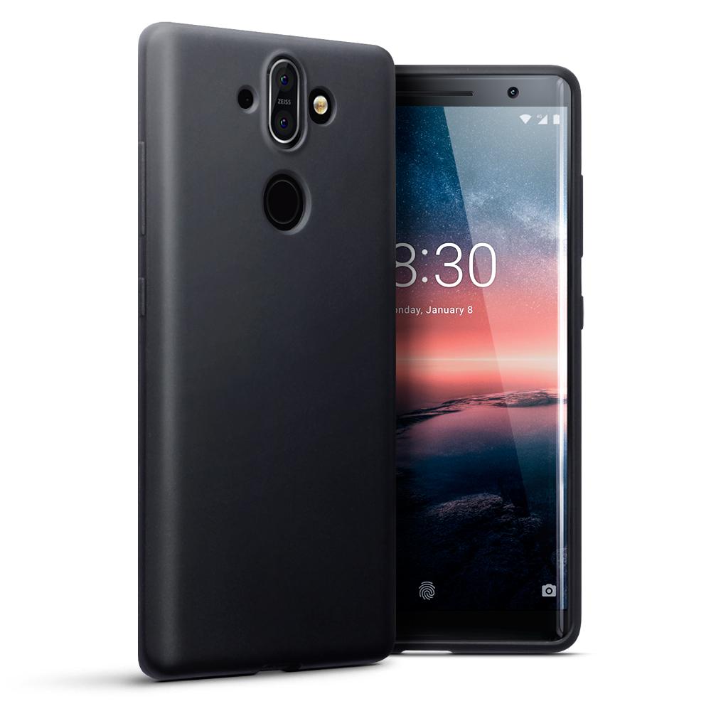 Terrapin Θήκη Σιλικόνης Nokia 8 Sirocco - Black Matte (118-001-250)