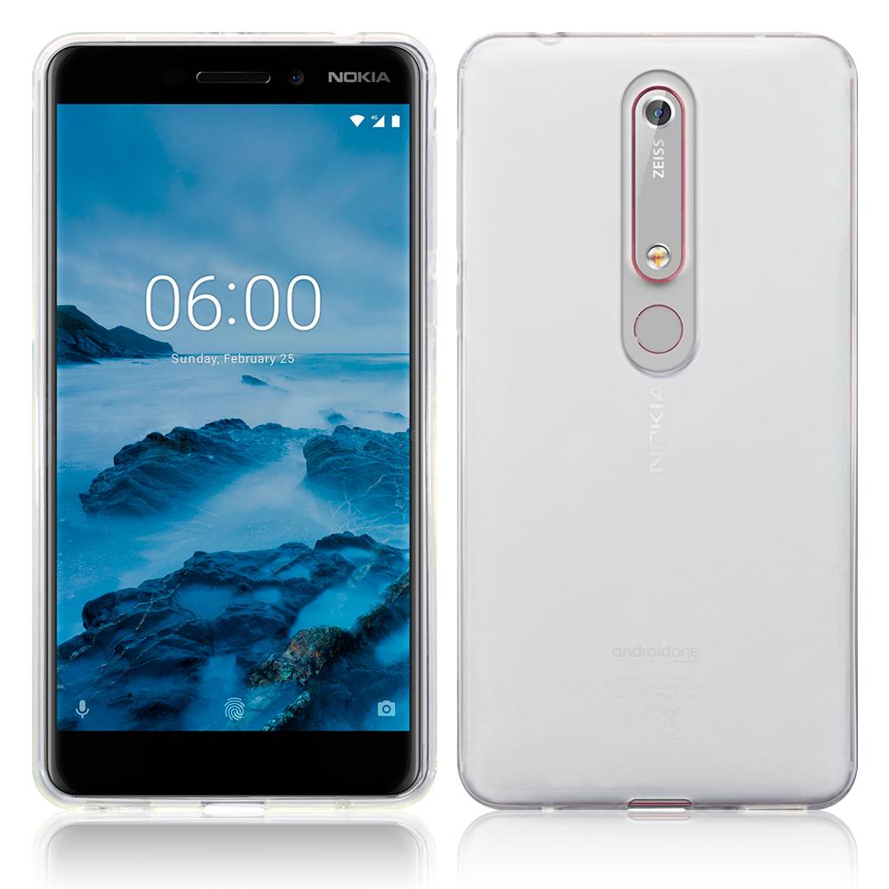 Terrapin Διάφανη Θήκη Σιλικόνης Nokia 6.1 / Nokia 6 2018 - Clear (118-001-253)