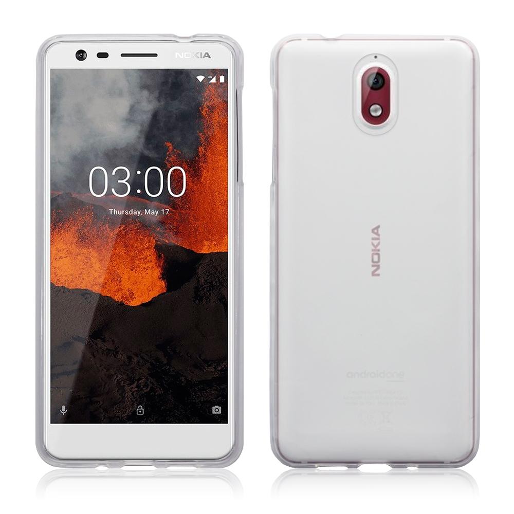 Terrapin Ημιδιάφανη Θήκη Σιλικόνης Nokia 3.1 - Clear / White (118-001-262)