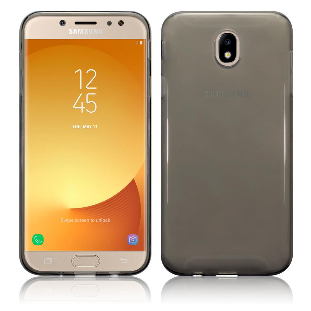 Terrapin Ημιδιάφανη Θήκη Σιλικόνης Samsung Galaxy J7 2017 (Version J730F) - Smoke Black (118-002-652)