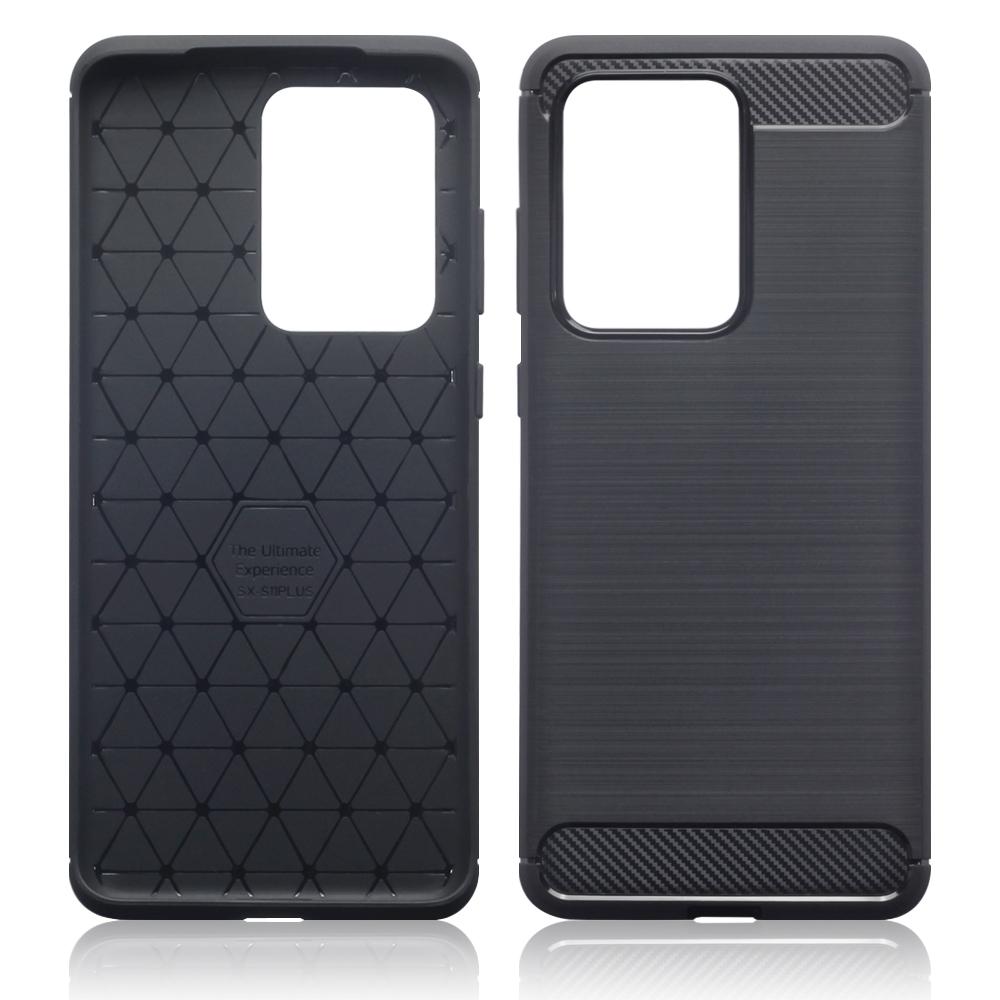 Terrapin Θήκη Σιλικόνης Carbon Fibre Samsung Galaxy S20 Ultra - Black (118-002-823)