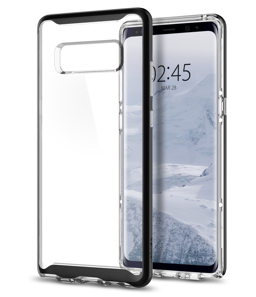Spigen Ημιδιάφανη Θήκη Neo Hybrid Crystal Samsung Galaxy Note 8 - Black  (587CS22091)