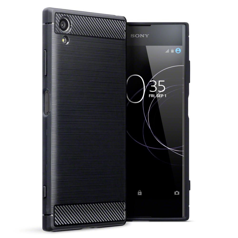 Terrapin Θήκη Σιλικόνης Carbon Fibre Design Sony Xperia XA1 Plus - Black (118-005-421)