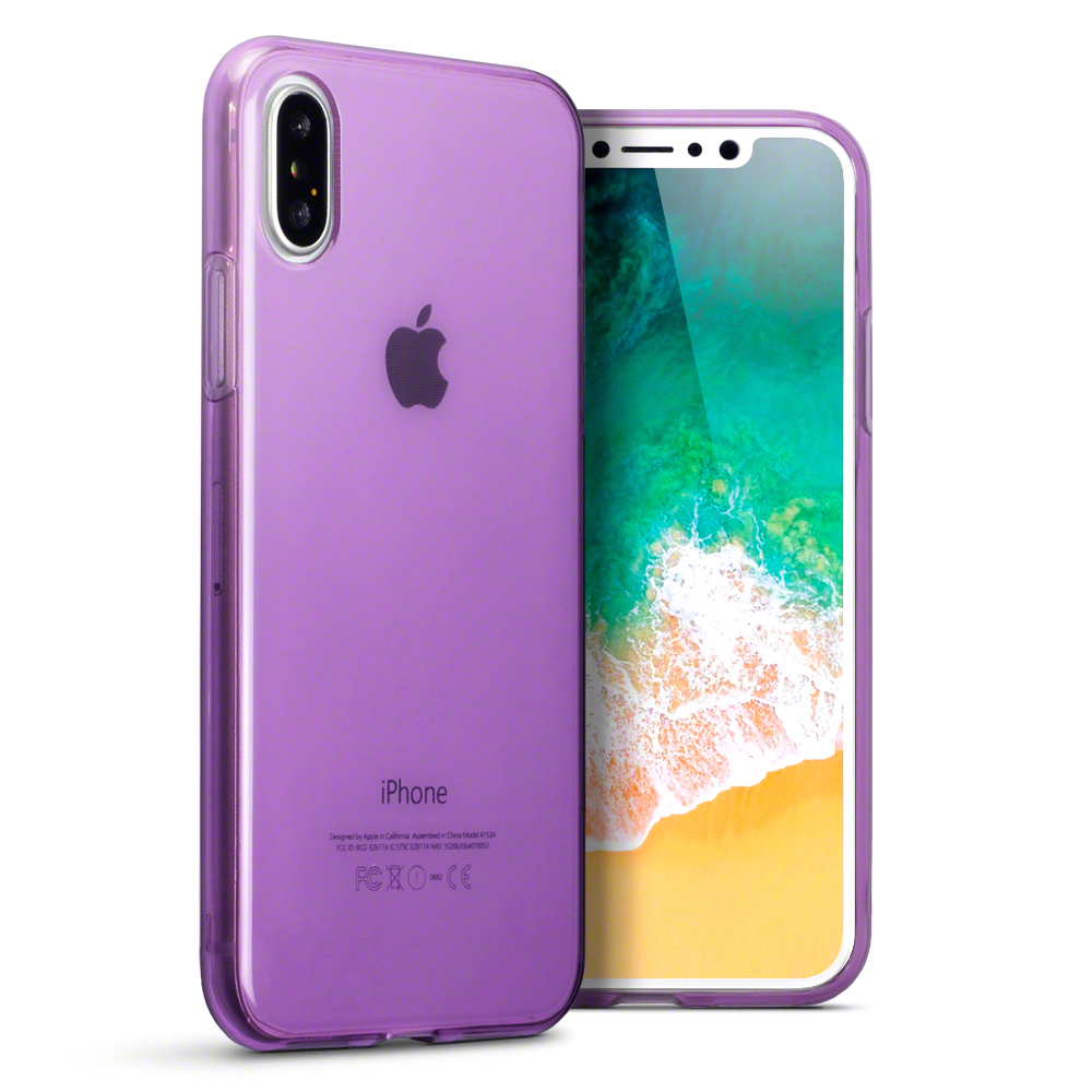 Terrapin Ημιδιάφανη Θήκη Σιλικόνης iPhone X / XS - Purple (118-125-005)