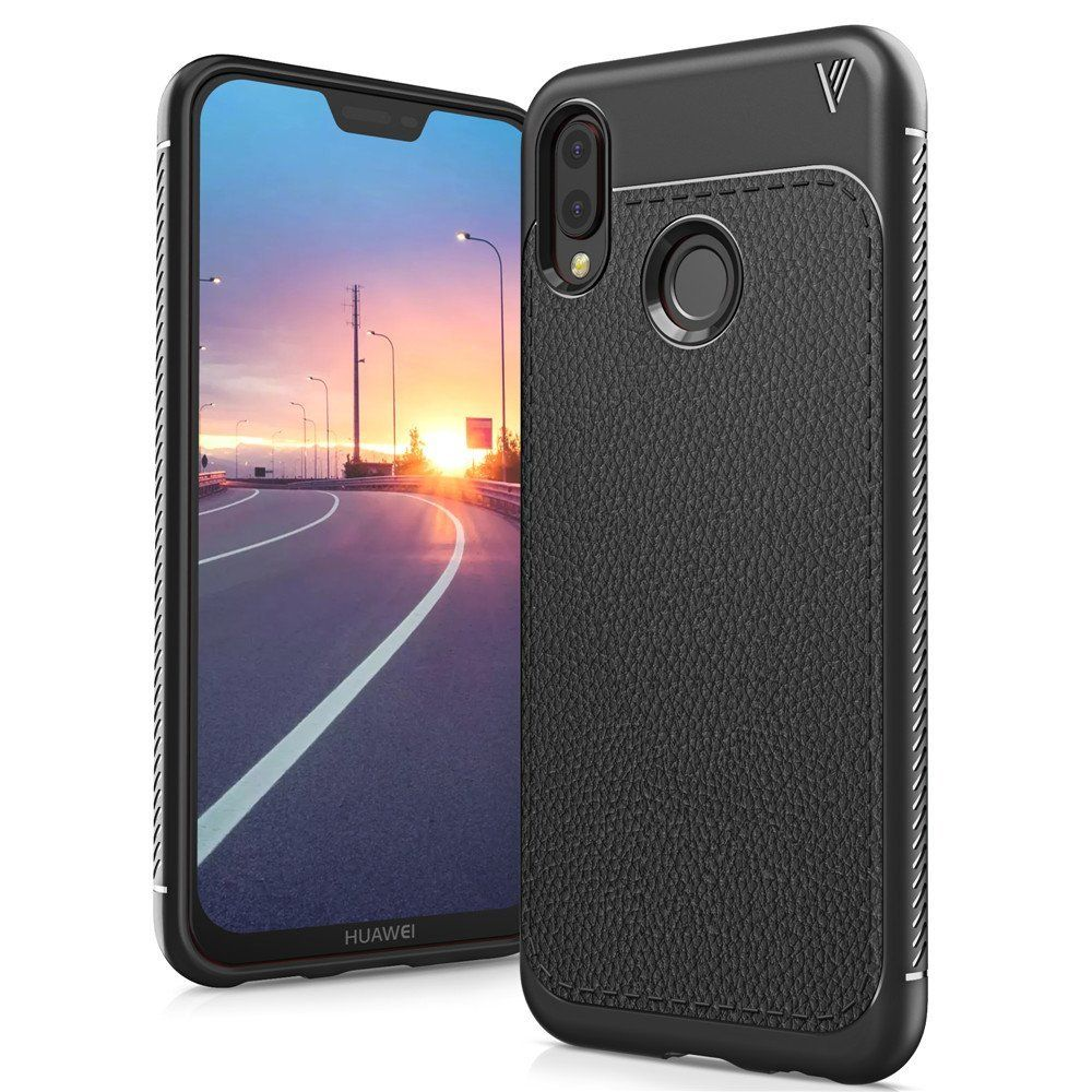 Θήκη TPU Leather Huawei P20 Lite - Black - OEM (12876)