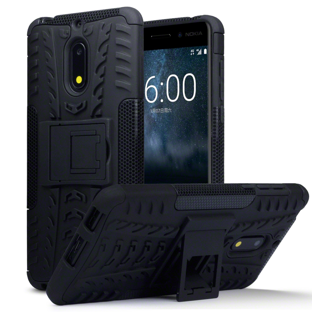 Terrapin Ανθεκτική Θήκη με Stand Nokia 6 - Black (131-001-009)