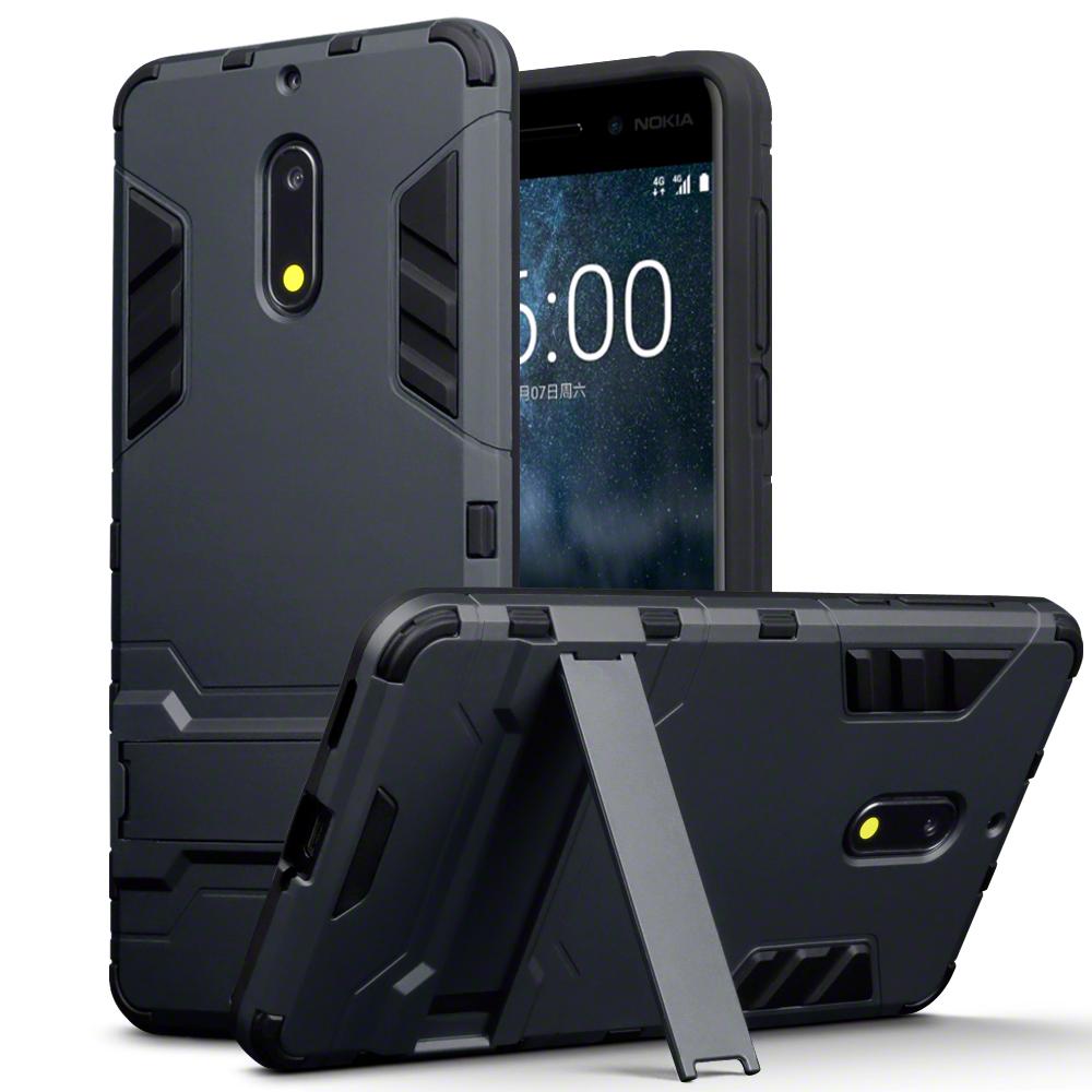 Terrapin Ανθεκτική Dual Layer Θήκη Nokia 6 - Black (131-001-015)