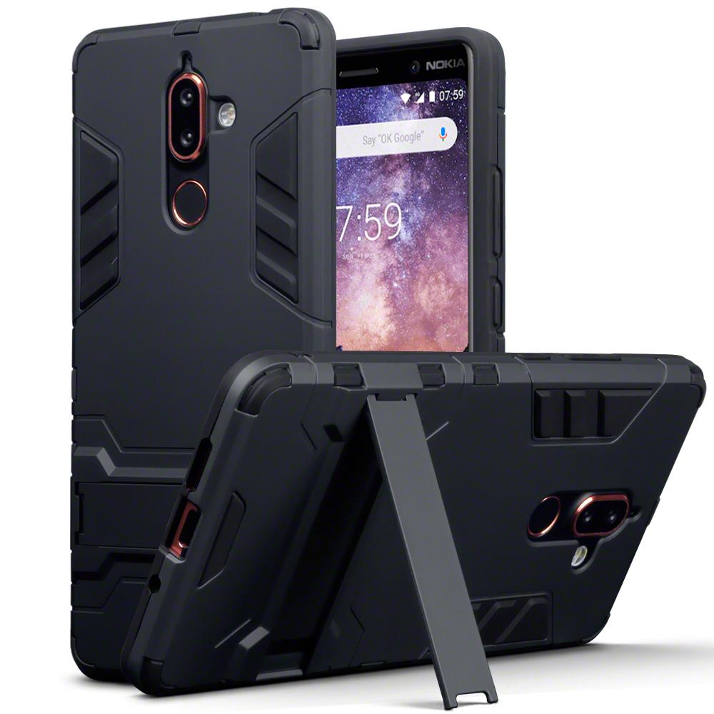 Terrapin Ανθεκτική Θήκη με Stand Nokia 7 Plus - Black (131-001-024)