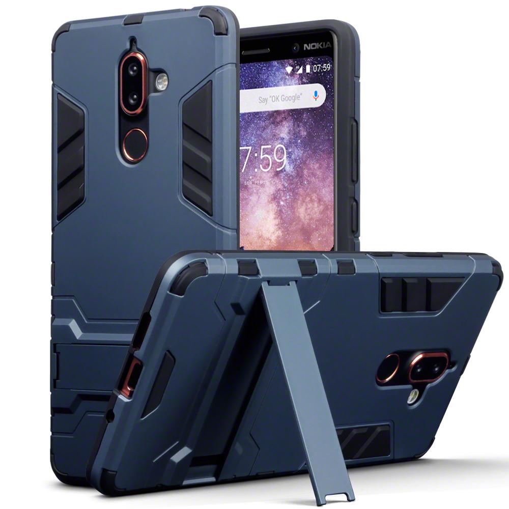 Terrapin Ανθεκτική Θήκη με Stand Nokia 7 Plus - Dark Blue (131-001-025)