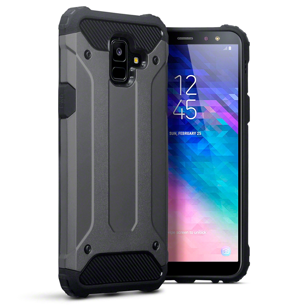 Terrapin Ανθεκτική Θήκη Impact Shock Samsung Galaxy A6 2018 - Gunmetal (131-002-101)