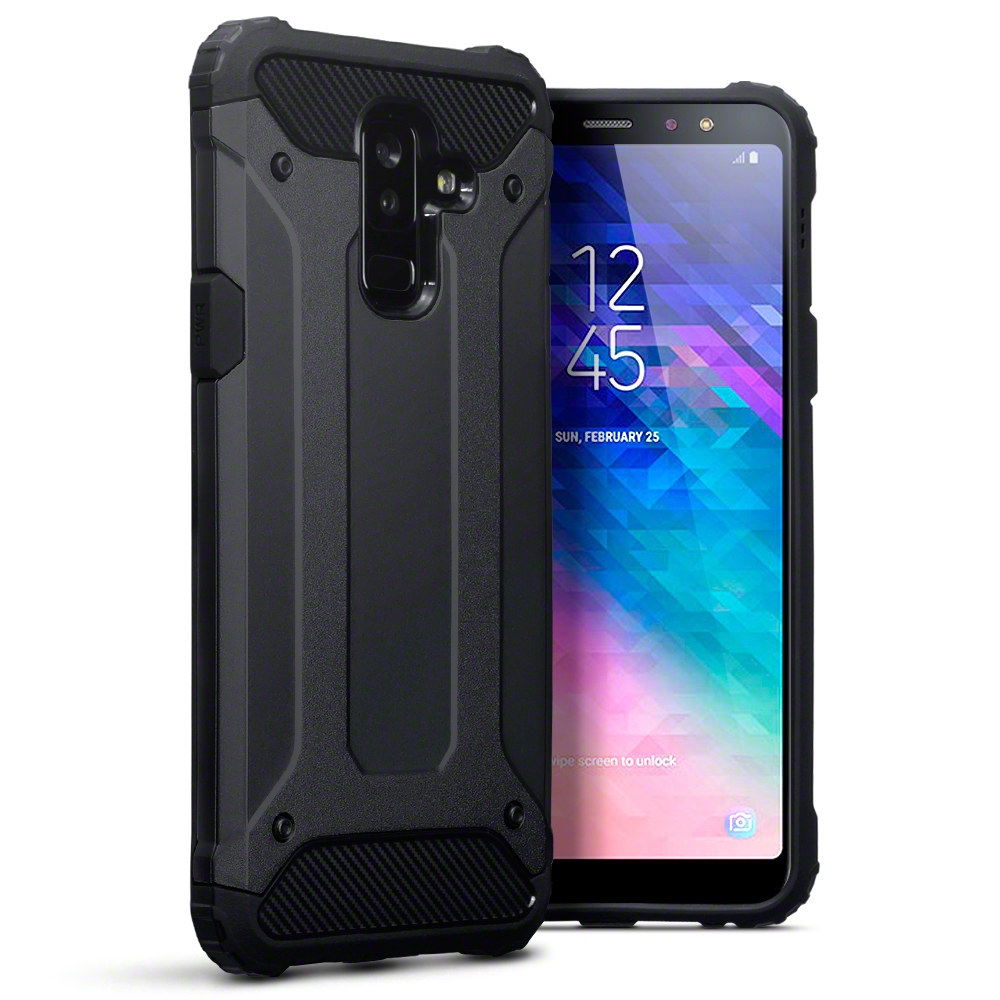 Terrapin Ανθεκτική Θήκη Impact Shock Samsung Galaxy A6 Plus 2018 - Black (131-002-103)