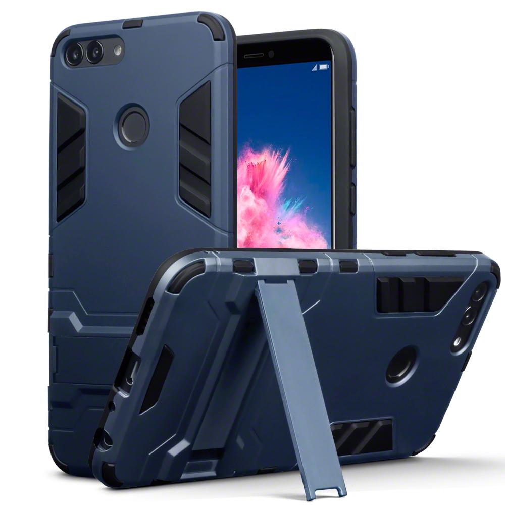 Terrapin Ανθεκτική Θήκη με Stand Huawei P Smart 2018- Dark Blue (131-083-058)
