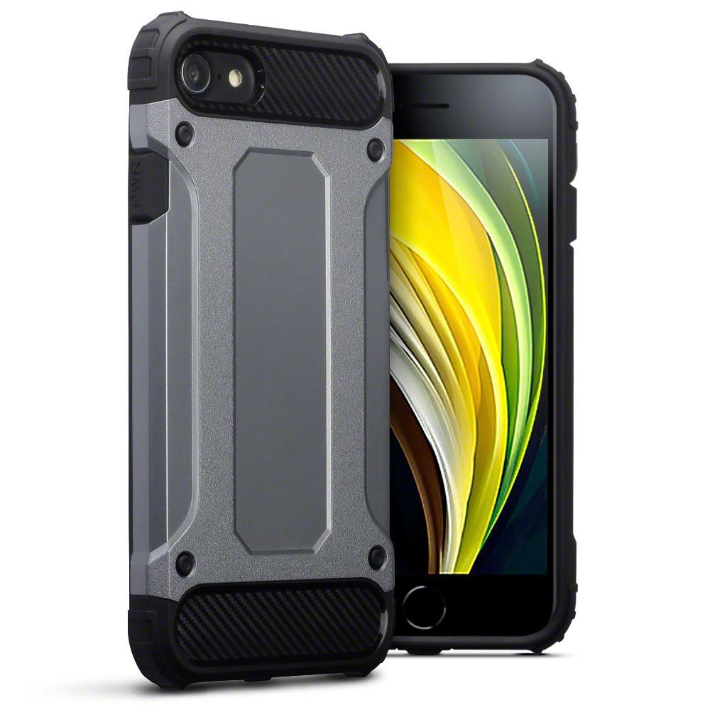 Terrapin Ανθεκτική Θήκη Double Layer Impact iPhone SE 2020 / 8 / 7 - Gunmetal (131-122-018)