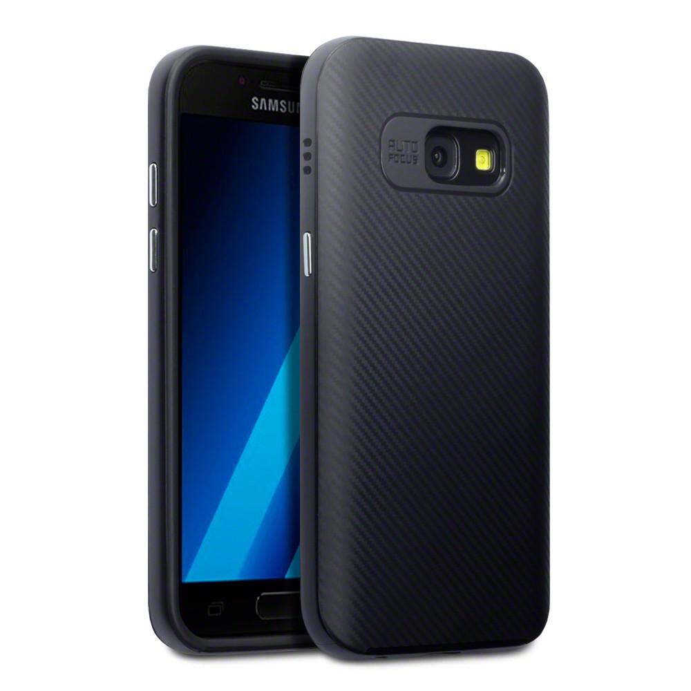 Terrapin Θήκη Σιλικόνης Samsung Galaxy A3 2017 με PC Bumper - Black (136-002-052)