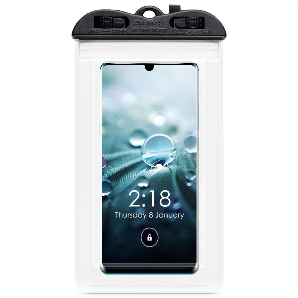 Τerrapin Universal Αδιάβροχη Θήκη Πουγκί για Smartphones έως 6.5'' - Frosted Transparent (156-019-005)