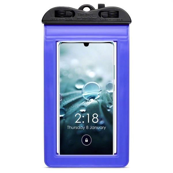 Terrapin Universal Αδιάβροχη Θήκη Πουγκί για Smartphones έως 6.5'' - Μπλε (156-019-006)
