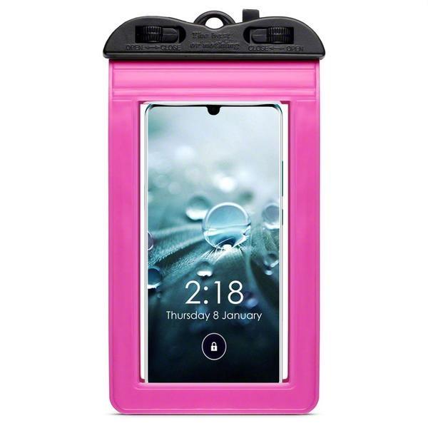 Terrapin Universal Αδιάβροχη Θήκη Πουγκί για Smartphones έως 6.5'' - Pink (156-019-007)