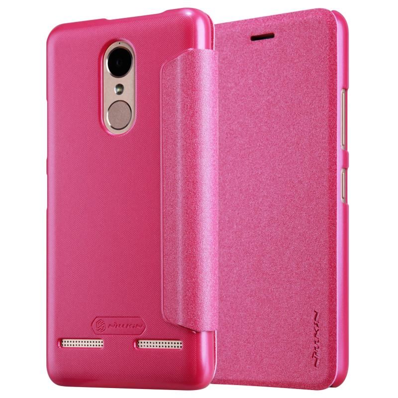 Nillkin Sparkle Flip Case Lenovo K6 Power - Pink (12345)