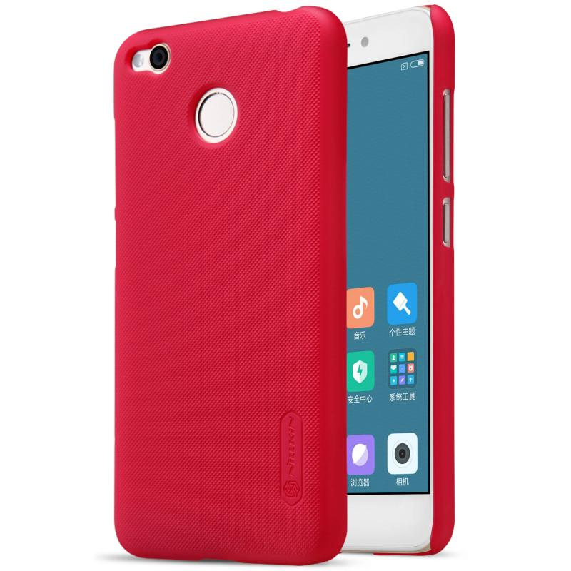 Nillkin Θήκη Super Frosted Shield Xiaomi Redmi 4 / 4X & Screen Protector - Red (12230)