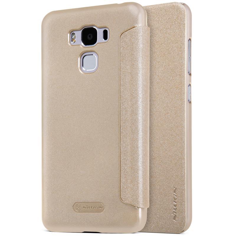 Nillkin Sparkle Flip Case Asus Zenfone 3 Max (ZC553KL) - Gold (12356)